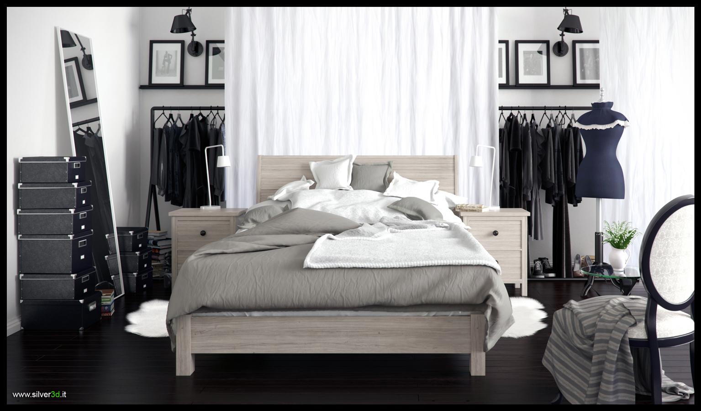 Bedroom Ikea style - Silver3D